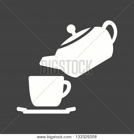 Tea, pouring, cup icon vector image. Can also be used for kitchen. Suitable for use on web apps, mobile apps and print media.