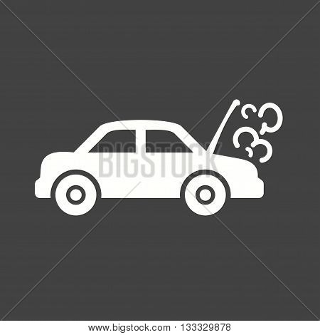 Smoke, exhaust, fume icon vector image. Can also be used for car servicing. Suitable for use on web apps, mobile apps and print media.