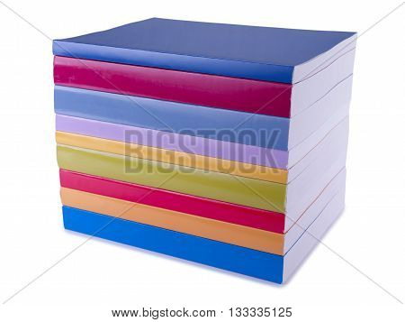 colorful books stock photo isolated on a white background