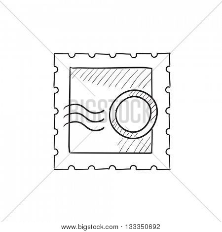 Philately vector sketch icon isolated on background. Hand drawn Philately icon. Philately sketch icon for infographic, website or app.