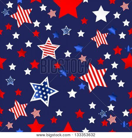 4th of july seamless background