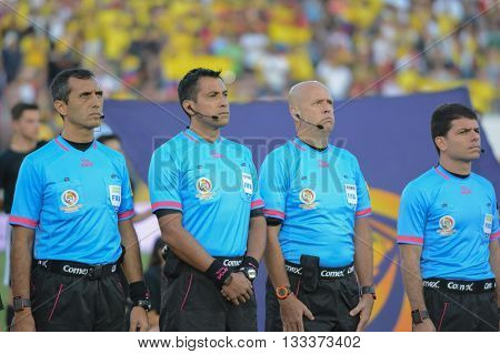 Referees During National Anthem