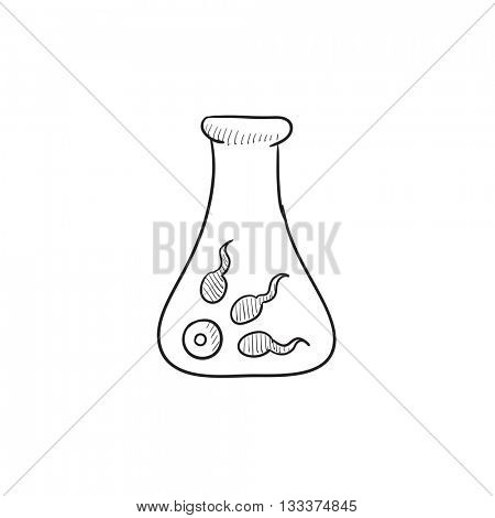 In vitro fertilisation vector sketch icon isolated on background. Hand drawn In vitro fertilisation icon. In vitro fertilisation sketch icon for infographic, website or app.