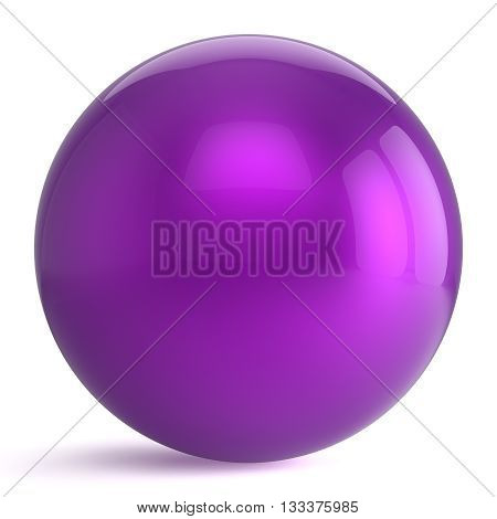 Sphere round button purple ball geometric shape basic circle solid figure simple minimalistic atom element single drop shiny glossy blue sparkling object blank balloon icon. 3d render isolated