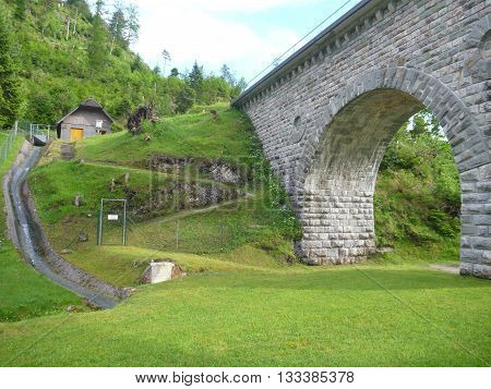 Old Historical Aquaduct Well Preserved In Austria