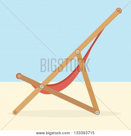 Lounge on the beach. Travel vector concept. Summer illustration