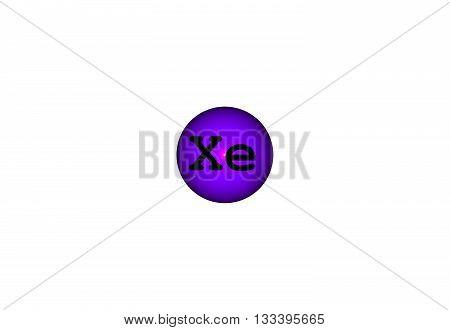 Xenon Chemical Element Image Photo Free Trial Bigstock