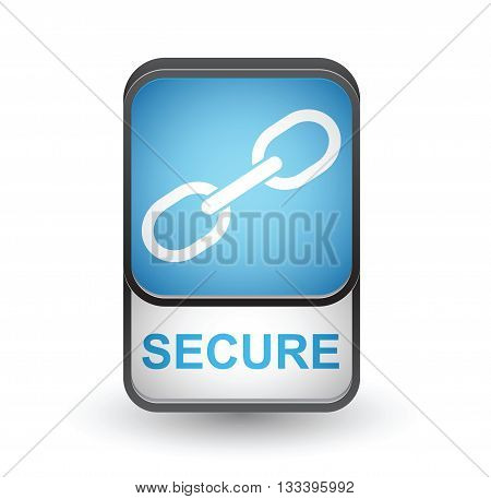 Secure icon. Vector sign isolated on white background