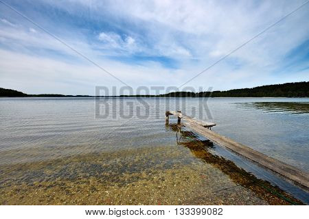 Landscape with lake in north Lithuania, East Europe