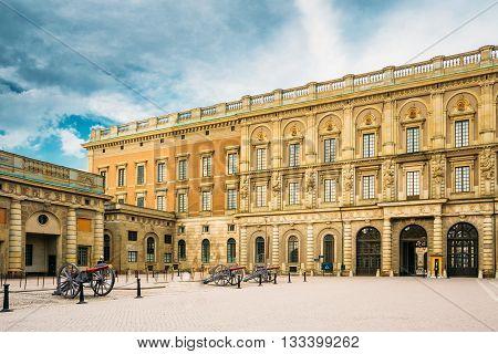 Stockholm, Sweden - July 30, 2014: Royal Palace In Gamla Stan In Stockholm Sweden.