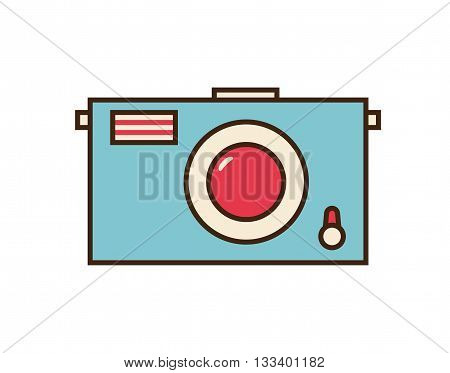 Photo icon. Camera vector button isolated on white