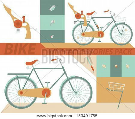 Bicycle Vector. Set of elements for bike.
