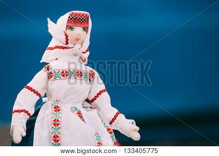 Gomel, Belarus - March 12, 2016: Belarusian Folk Doll. National Folk Dolls Are Popular Souvenirs From Belarus.