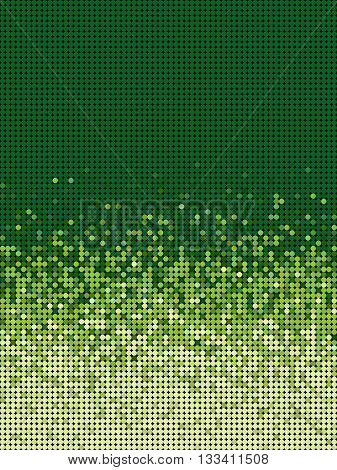 bubble gradient pattern in green and yellow