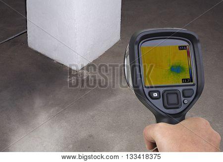 Chimney Thermal Camera Leak Investigation poster