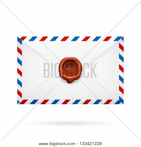 Avia-mail envelope with seal in the middle.