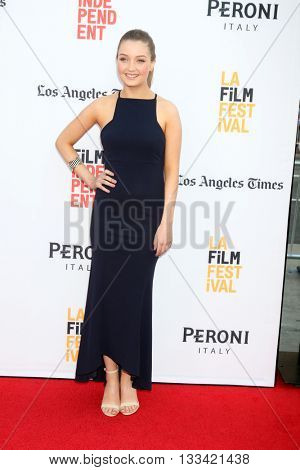 LOS ANGELES - JUN 7:  Lauren Esposito at the 2016 Los Angeles Film Festival - The Conjuring 2 Premiere at TCL Chinese Theater IMAX on June 7, 2016 in Los Angeles, CA