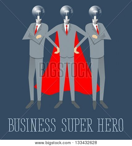 Super hero team flat infographic vector. Business concept