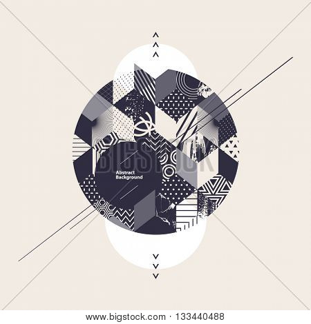Abstract  geometric background with circle