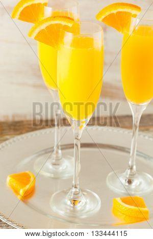 Homemade Refreshing Orange Mimosa Cocktails