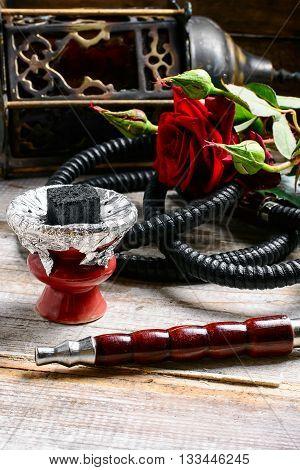 Arab Hookah And Stylish Lamp