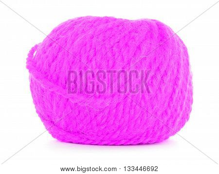 Clew of yarn braided texture isolated on white background