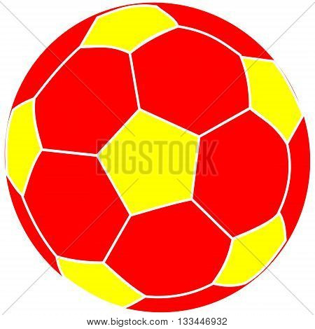 soccer ball red and yellow , soccer ball ,