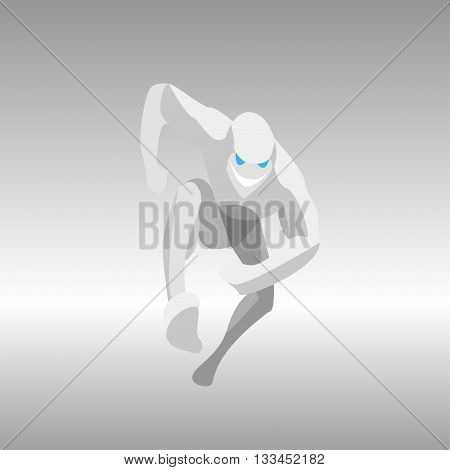 vector illustration of the strange running man