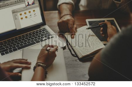 Business Contemporary Information Sharing Work Concept