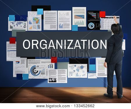 Organization Collaboration Company Group Team Concept