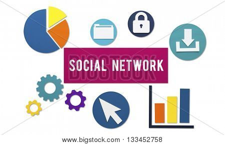 Social Network Media Communication Online Concept