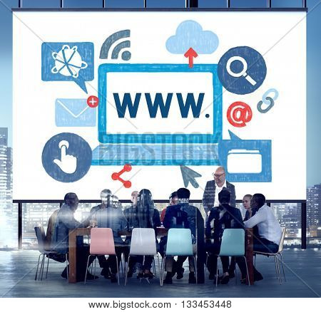 World Wide Web Internet Online Illustration Concept