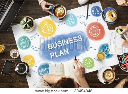 Business Plan Strategy Meeting Concept