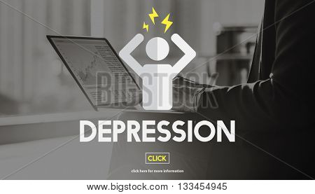 Depression Emotion Expression Mood Problem Concept