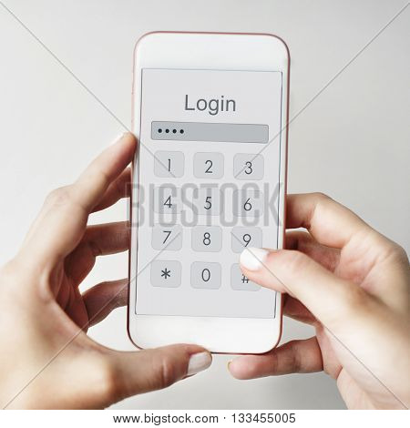 Log in Secured Access Verify Identity Password Concept
