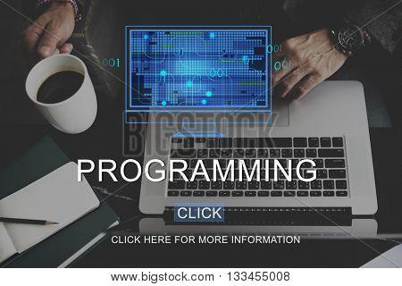 Programming Data Development Device Digital Concept