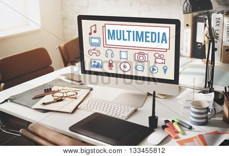 Multimedia Animation Computer Graphics Digital Concept