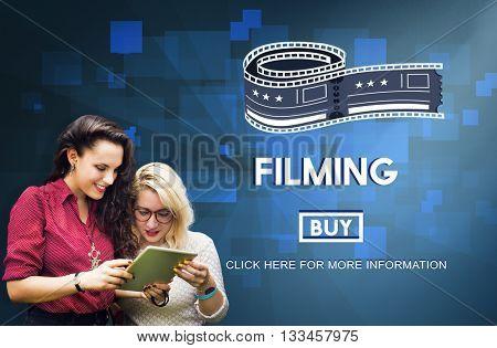 Filming Cinema Media Movie Production Studio Concept