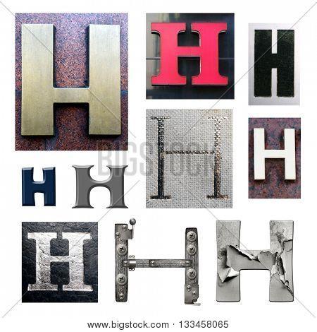 Collection alphabet. Letter H