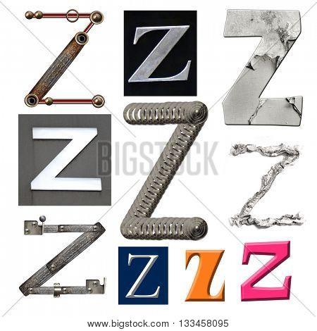 Collection alphabet. Letter Z