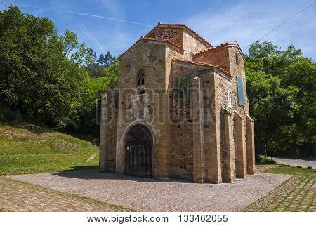 San Miguel de Lillo pre-romanesque church century IX poster