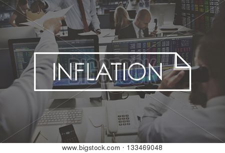 Inflation Recession Bankrupt Debt Finance Concept