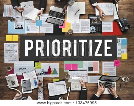 Prioritize Efficiency Expedite Importance Issues Concept