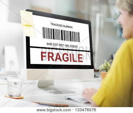 Shipping Transfer Fragile package Concept