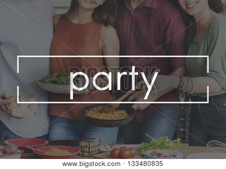 Party Fun Entertainment Celebration Gathering Concept