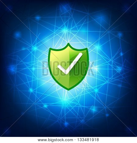 Safty shield securty network connection vector illustration eps10