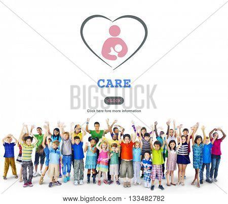 Care Childcare Love Baby Take Care Concept