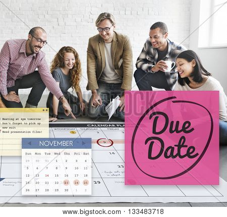 Due Date Appointment Day Event Important Concept