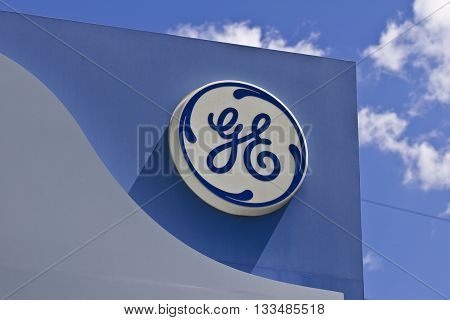 Cincinnati - Circa June 2016: Logos From the General Electric Aviation Facility. GE Aviation is a Provider of Jet Engines III