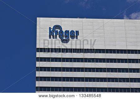 Cincinnati - Circa June 2016: The Kroger Company Corporate Headquarters. The Kroger Co. is One of the World's Largest Grocery Retailers I